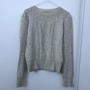 Isabel Étoile Marant Gray Cream Knit Sweater